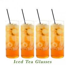 iced teas glasses