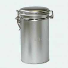Silver Tea Tin w/ Latch Cover