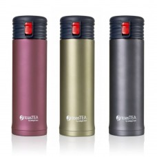 Adagio Teas toasTEA Double Wall Stainless Steel Insulated Travel Mug and Infuser, 17 oz, Blush
